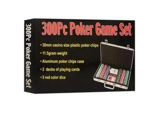 Покерный набор 300 фишек по 11,5 г (алюминиевый кейс)