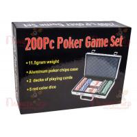 Покерный набор 200 фишек по 11,5 г (алюминиевый кейс)