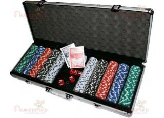Покерный набор 500 фишек по 11,5 г (алюминиевый кейс)