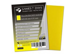 Протекторы для карт Games7Days (66 х 91 мм, MTG, 80 шт.) Yellow (PREMIUM)