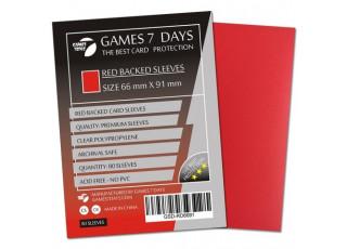 Протекторы для карт Games7Days (66 х 91 мм, MTG, 80 шт.) Red (PREMIUM)