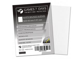 Протекторы для карт Games7Days (66 х 91 мм, MTG, 80 шт.) White (PREMIUM)