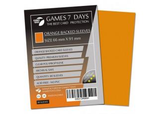 Протекторы для карт Games7Days (66 х 91 мм, MTG, 80 шт.) Orange (PREMIUM)