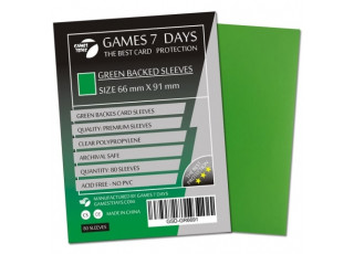 Протекторы для карт Games7Days (66 х 91 мм, MTG, 80 шт.) Green (PREMIUM)