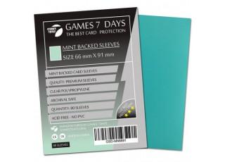 Протекторы для карт Games7Days (66 х 91 мм, MTG, 80 шт.) Mint (PREMIUM)