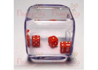 """Кубик 3 в 1 """"2 красных + 1 белый"""", D6, 25 мм (в ассорт.)"""