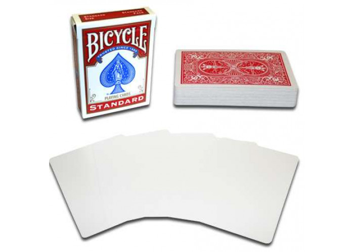 Карты для фокусов Bicycle Blank Face (red)