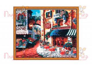 Раскраска по номерам. Итальянская улица. Вкус Италии (40х50)
