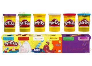 Набор для лепки Play-Doh. 6 баночек по 130 г (4+2 бонус)