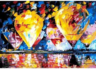 Раскраска по номерам. Воздушные шары 1 (40х50)