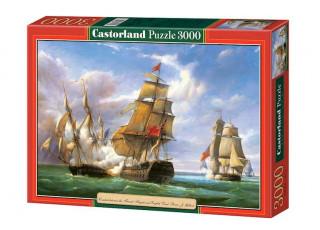 Пазл Бой между французским и английским судном, 3000 эл.