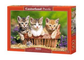 Пазл Три миленьких котёнка, 500 эл.