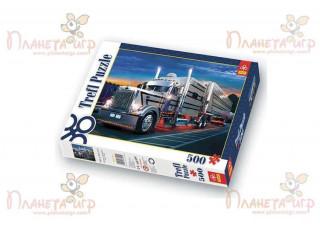 Пазл Серебристый грузовик, 500 эл.
