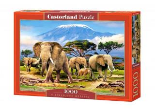 Пазл Слоны на Килиманджаро, 1000 эл.