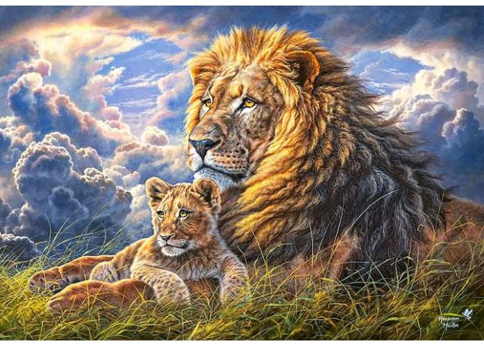 Пазл Семейство львов, 1000 эл.