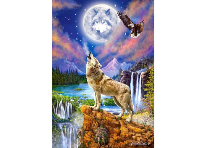Пазл Волчья ночь, 1500 эл.