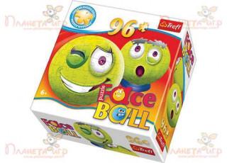 Пазл 3D шар Faceball зелёный, 96 эл.