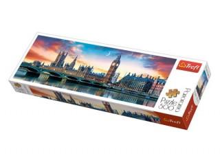Пазл Биг Бен и Вестминстерский дворец, Лондон, 500 эл. (панорама)