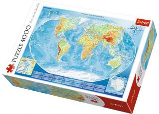 Пазл Физическая карта мира, 4000 эл.