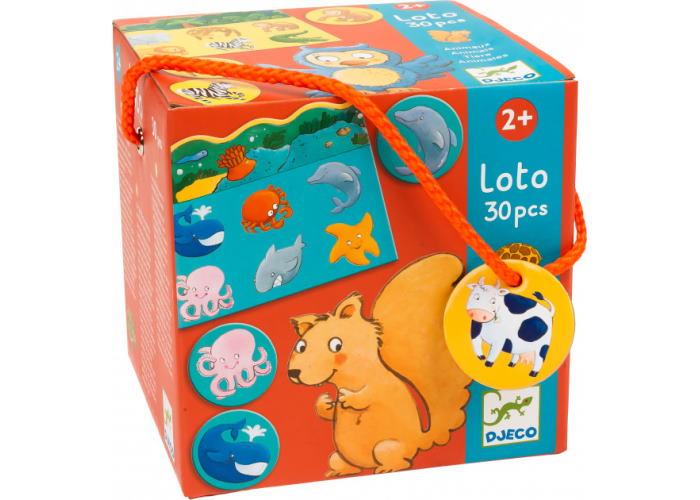Детское лото. Животные (Loto Animals, 30 pcs)