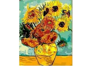 Раскраска по номерам. Подсолнухи. Ван Гог (40х50)