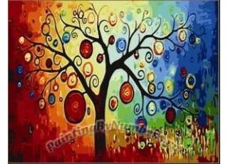 Раскраска по номерам Денежное дерево (40х50)
