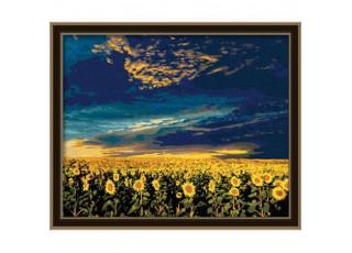 Раскраска по номерам Вечернее небо (40х50)