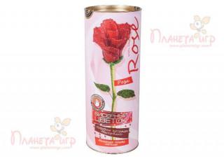 Цветок из бисера. Роза