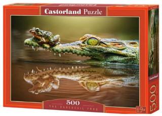 Пазл Крокодил и лягушка, 500 эл.