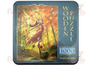 Пазл деревянный Фея осени, 1000 эл. (жестяная коробка)
