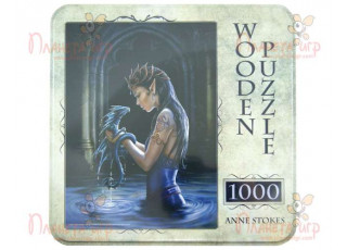 Пазл деревянный Водный дракон, 1000 эл. (жестяная коробка)