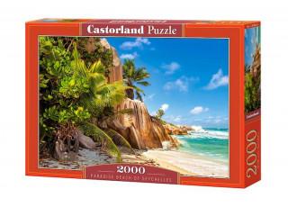 Пазл Райский пляж, Сейшелы, 2000 эл.