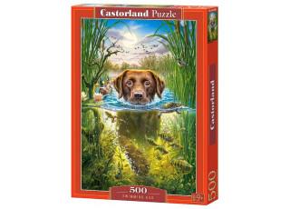Пазл Плавающая собака, 500 эл.