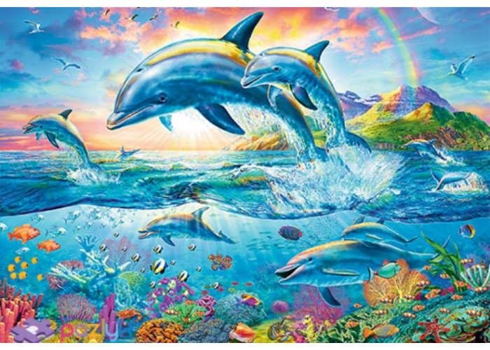 Пазл Семья дельфинов, 1500 эл.