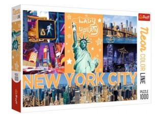 Пазл Neon Неоновый город, Нью-Йорк, США, коллаж, 1000 эл.
