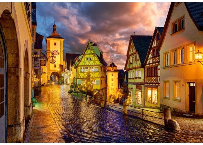 Пазл Ротенбург ночью, Германия, 1000 эл.