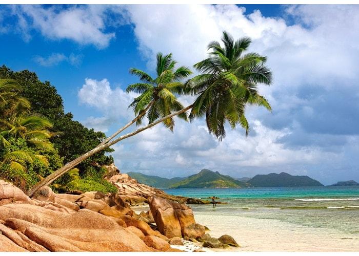 Пазл Пляж Сейшелы, Африка, 1000 эл.