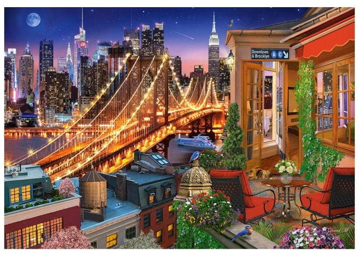 Пазл Огни Бруклинского моста, 1000 эл.