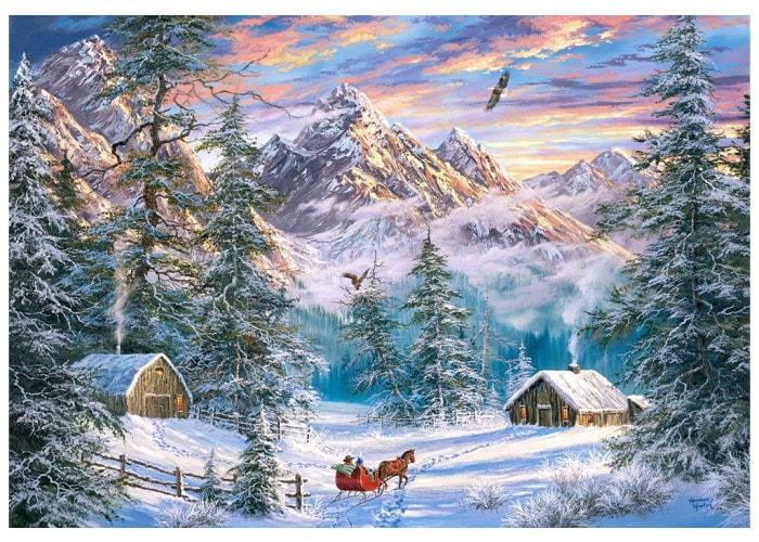 Пазл Рождество в горах, 1000 эл.