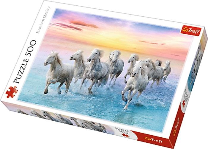 Пазл Белые лошади в галопе, 500 эл.