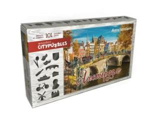Пазл деревянный фигурный Амстердам, Citypuzzles, 101 эл.