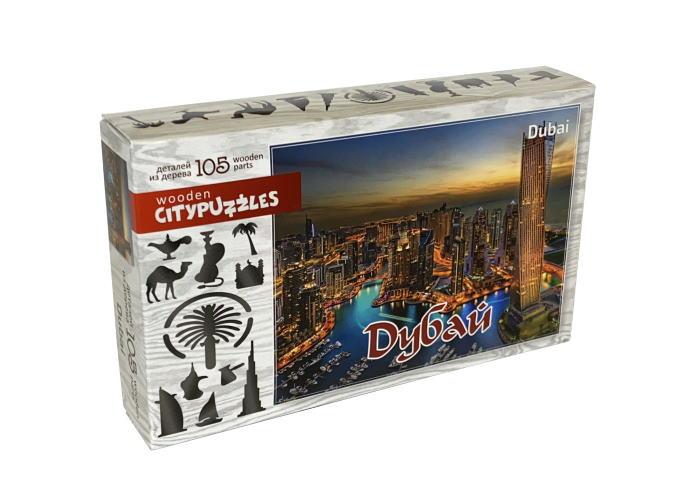 Пазл деревянный фигурный Дубай, Citypuzzles, 105 эл.