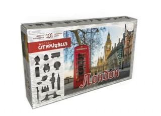 Пазл деревянный фигурный Лондон, Citypuzzles, 101 эл.
