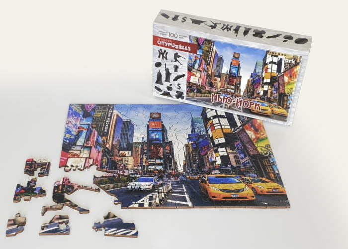 Пазл деревянный фигурный Нью-Йорк, Citypuzzles, 100 эл.