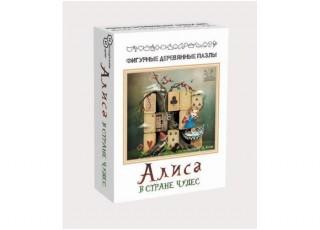 Пазл деревянный фигурный Алиса в стране чудес, 48 эл.