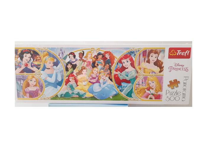 Пазл Возвращение в мир принцесс, Принцессы, 500 эл. (панорама)