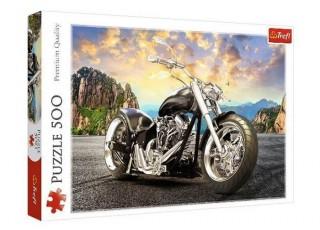 Пазл Чёрный мотоцикл, 500 эл.