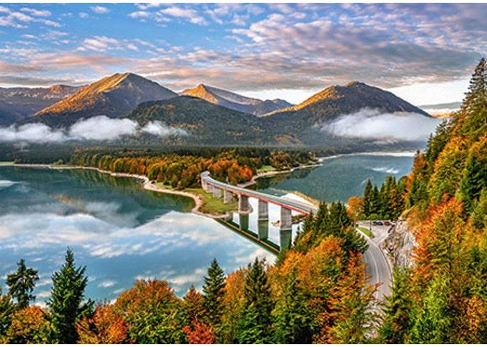 Пазл Воcход cолнца над озером Сильвенштайн, Германия, 500 эл.