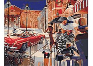 Раскраска по номерам. Городской гламур (40х50)