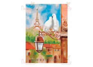 Раскраска по номерам. Весна в Париже (40х50)